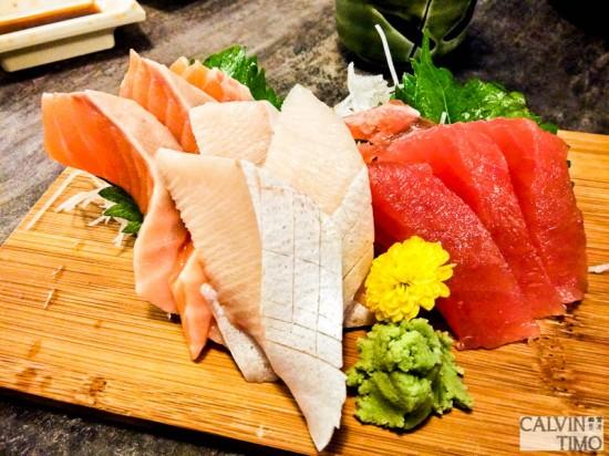 3 kind sashimi ($14.90)